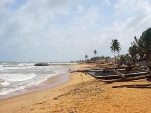 Negombo Sri Lanka met kinderen - strand