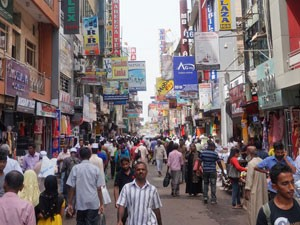 Colombo met een tuk tuk Sri Lanka