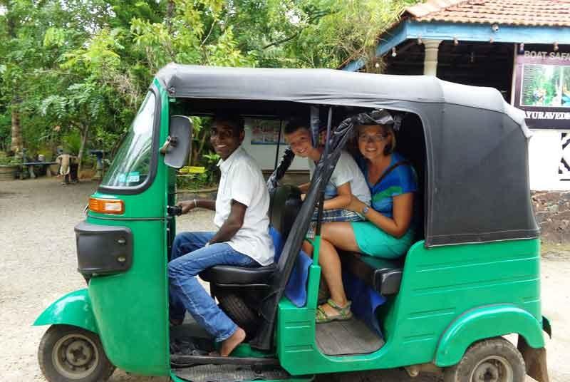Tuk tuk ritje - Sri Lanka vakantie