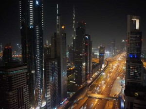 Dubai met kinderen - city by night