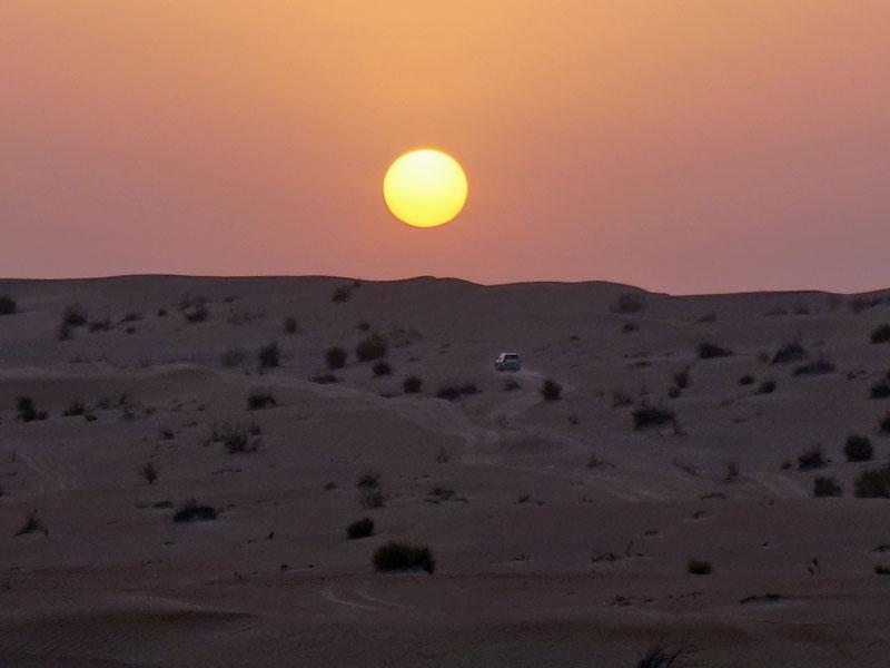 Optionele woestijnsafari zonsondergang - Dubai met kinderen