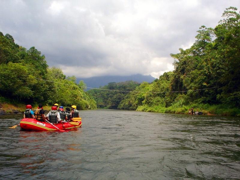familiereis Sri Lanka - raften