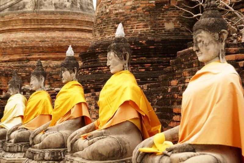 Buddha Statuen in Ayutthaya