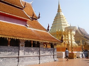 Ansicht des Doi Suthep Tempel in Chiang Mai