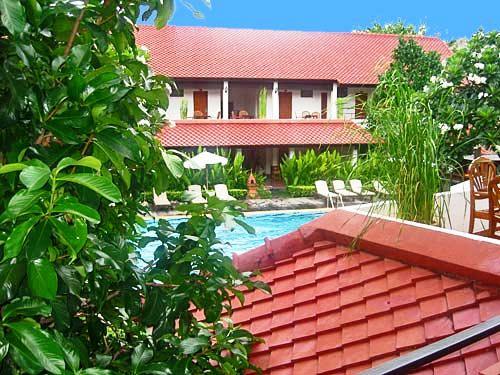 Die Hotelanlage der Unterkunft in Chiang Mai