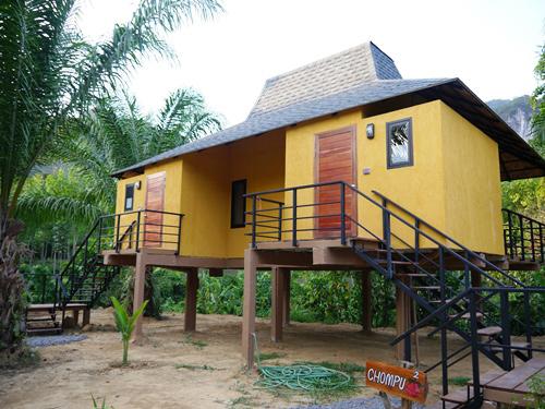 Bungalow der Anurak Lodge im Khao Sok