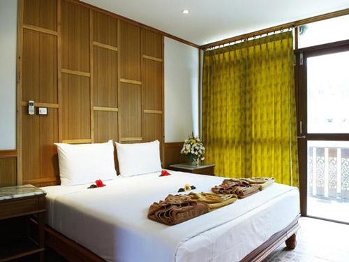 Schlafzimmer der Unterkunft auf Koh Phi Phi