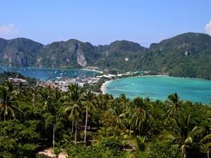 Aussicht auf Koh Phi Phi vom Viewpoint
