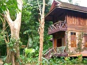 Unterkunft in der Dschungellodge im Khao Sok Nationalpark