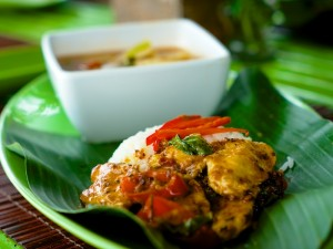 Thailändische Speise, die während des Kochkurses entstanden ist