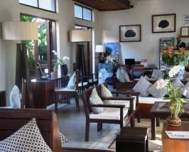 Die Lobby in der Unterkunft in Chiang Mai