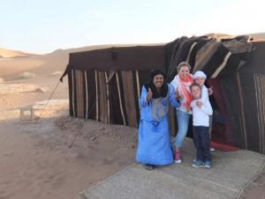 Familie in Marokko