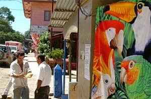 Straßenhändler in San José