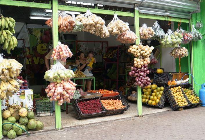 Ein kleiner Obstladen in San Jose