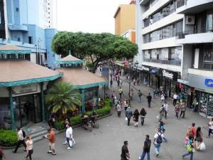 Eine Einkaufsstraße in San Jose