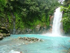 Der Wasserfall am Rio Celeste