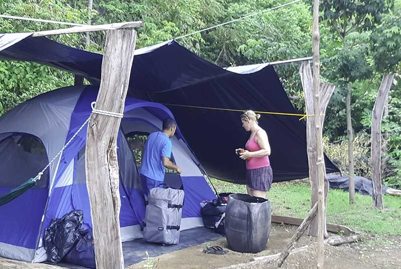 Camping Zelt in Costa Rica