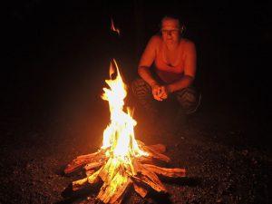 Lagerfeuer auf der Isla Venado