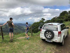 Pause während der Autofahrt durch Costa Rica