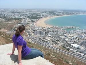 Aussicht auf Agadir von der Kasbah