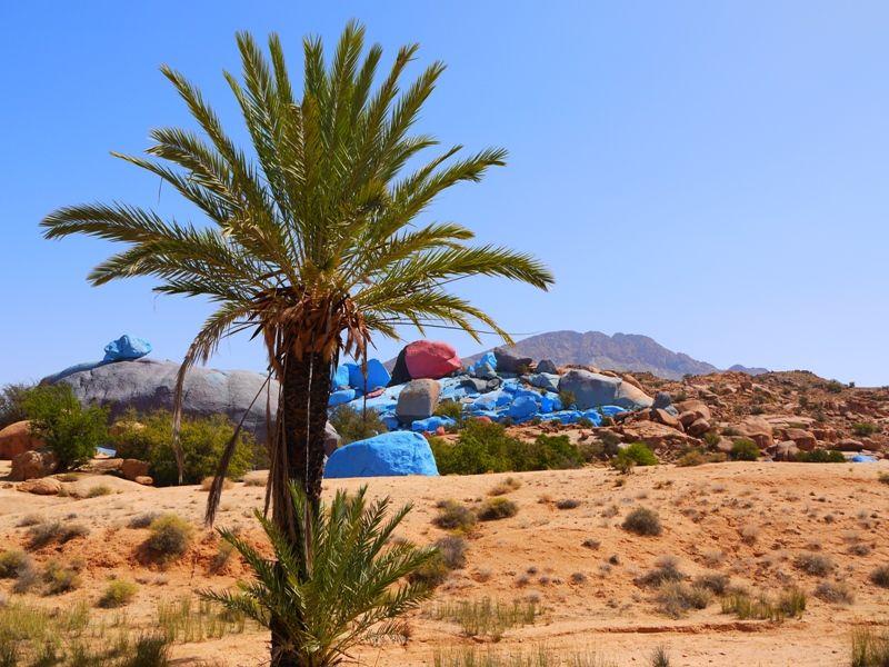 Tafraroute Marokko bunte Steine
