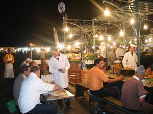 marokkanische Gerichte in den Garküchen