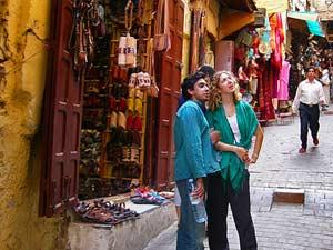 Souk-Gasse in Fes Marokko