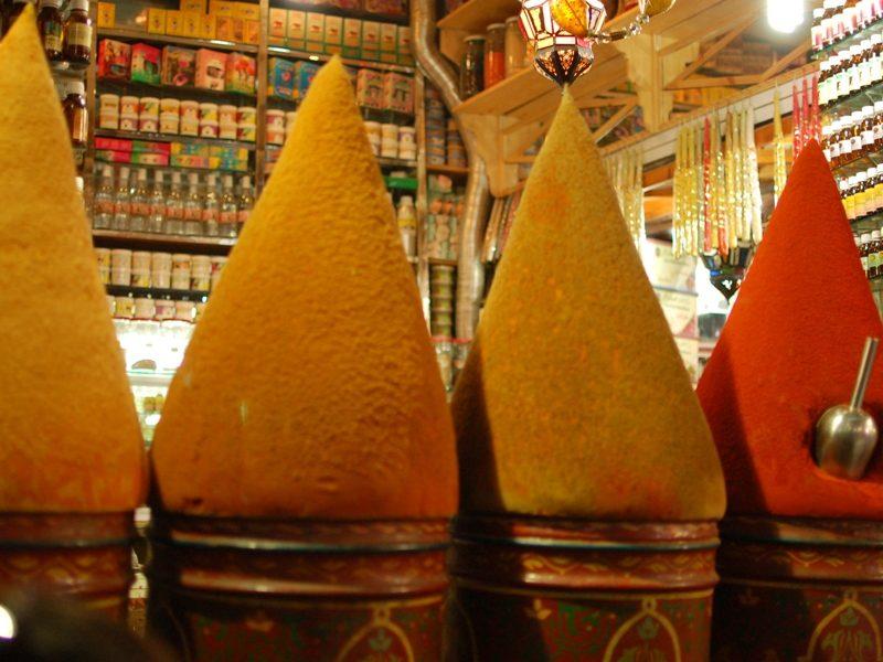 Souks Marokko Gewürze