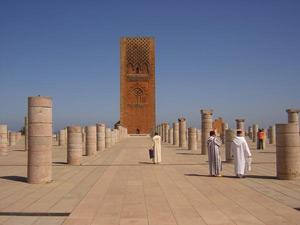 Königsstädte Marokko Hassan Turm Rabat