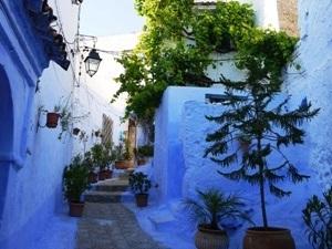 blau-weiße Medina in Chefchaouen