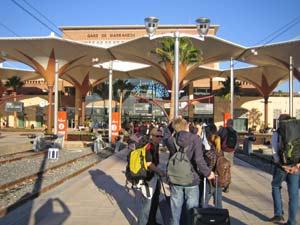 Marokko Rundreise Königsstädte Bahnhof Marrakesch