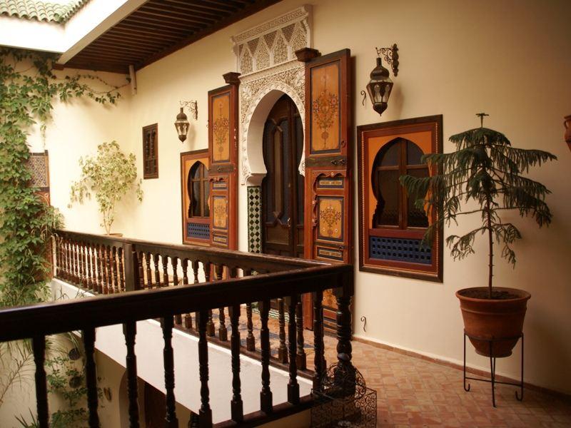 Eingang Hotelzimmer Riad Marokko