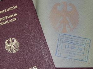 Reisepass für die Einreise