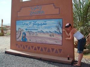 Schild 52 Tage nach Timbuktu