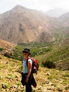 grünes Tal im Atlasgebirge