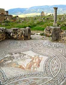 Mosaik in der Ruinenstadt Volubilis
