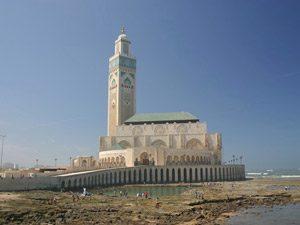 3 Wochen Marokko Moschee Hassan II Casablanca