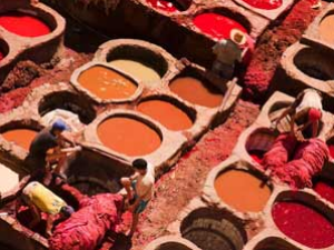 Gerbereien in Fes bei 3-wöchiger Marokko Reise