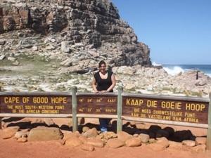 Garden Route mit Kindern: Reisende am Kap der Guten Hoffnung in Südafrika
