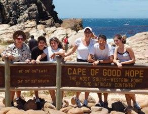 Reisende am Kap der Guten Hoffnung