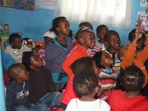 Kinder im Kindergarten der Xhosa