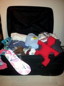 Koffer im Urlaub