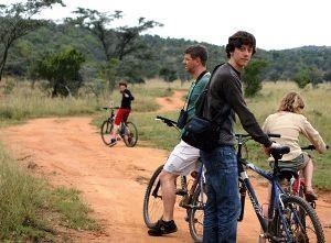 Reisende bei einer Fahrradtour