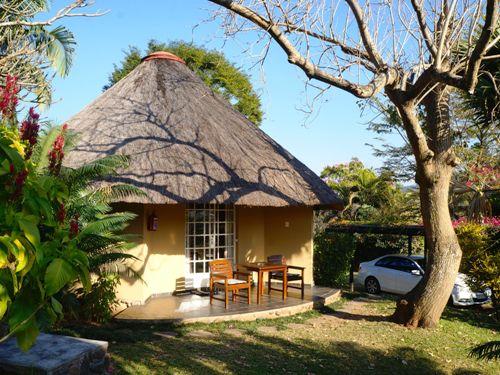 Außenansicht der Unterkunft im Krüger Nationalpark