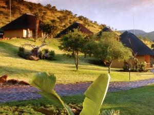 Südafrika Rundreise: Blick auf die Unterkunft in Ohrigstad