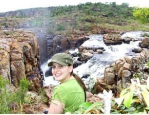 Unterwegs zur Safari im Krüger Nationalpark: Reisende an der Panoramaroute