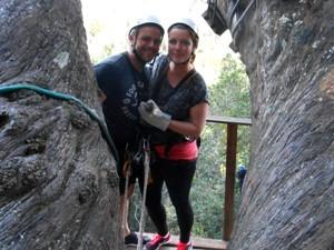 Südafrika Rundreise: Reisende bei der Canopy Tour