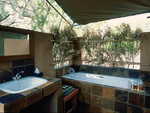 Badezimmer im Safarizelt