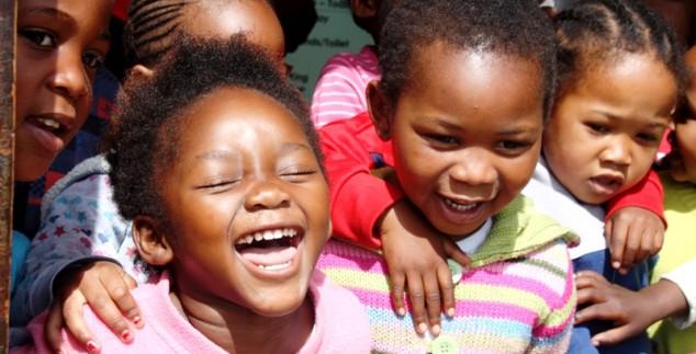Kinder im Township von Knysna
