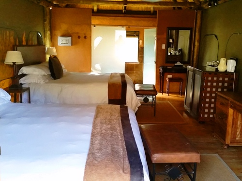Zimmer der Zelte im Safaricamp